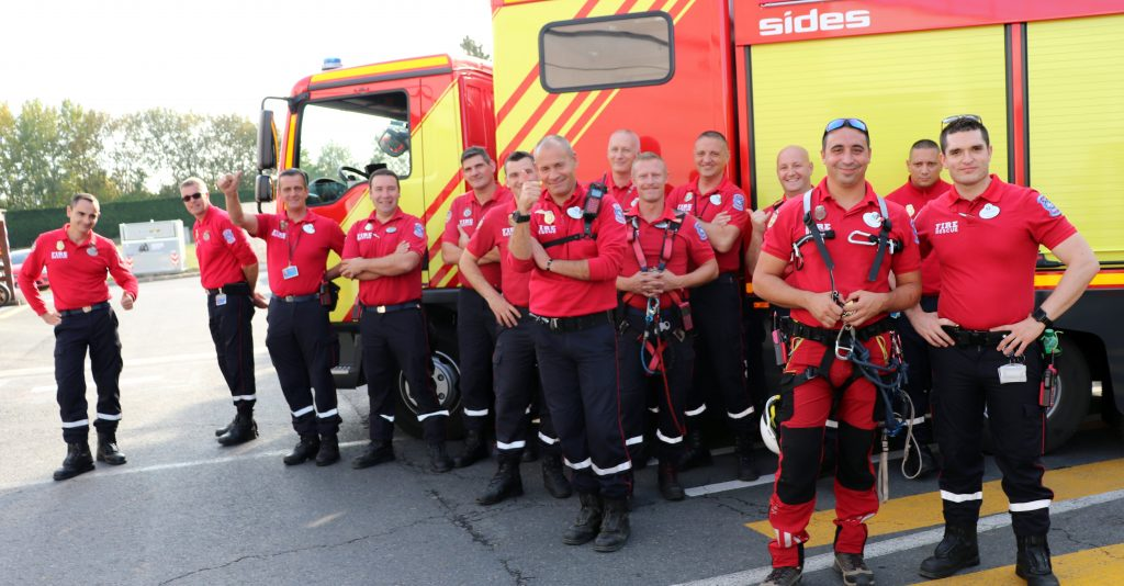 Members of the Fire Rescue team of Disneyland Paris
